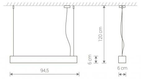 Подвесной светодиодный светильник Nowodvorski Soft Led 9545