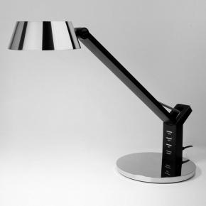 Офисная настольная лампа Slink 80426/1 черный/серебро