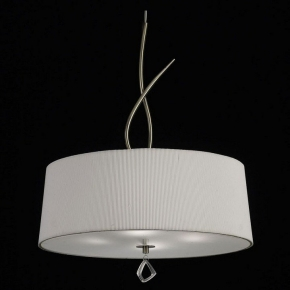 Подвесной светильник Mantra Mara Antique Brass - White Shade 1624