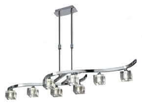 Подвесной светильник Mantra Cuadrax Chrome Optical Glass 0966