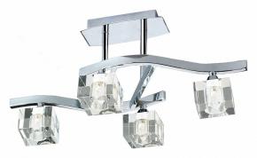 Потолочная люстра Mantra Cuadrax Chrome Optical Glass 0967