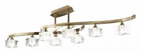 Потолочная люстра Mantra Cuadrax Antique Brass Optical Glass 1101