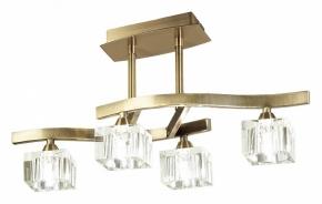 Потолочный светильник Mantra Cuadrax Antique Brass Optical Glass 1107