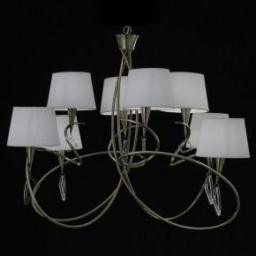 Подвесная люстра Mantra Mara Antique Brass - White Shade 1634