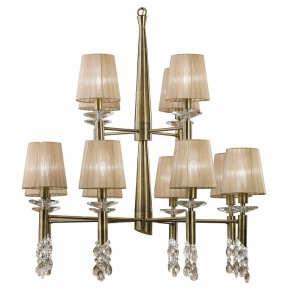 Подвесная люстра Mantra Tiffany Antique Brass 3870