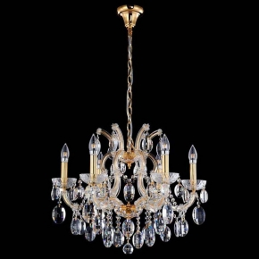 Подвесная люстра Crystal Lux Hollywood SP6 Gold