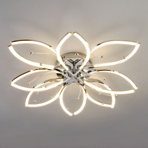 Потолочная светодиодная люстра Eurosvet Fiona 90092/8 хром