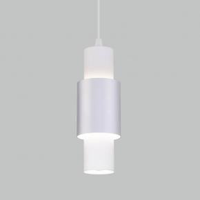 Подвесной светодиодный светильник Eurosvet Bento 50204/1 белый/матовое серебро