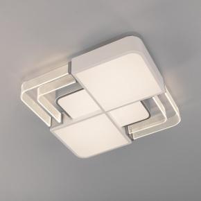 Потолочный светодиодный светильник Eurosvet Target 90182/1 белый/серебро
