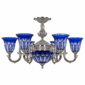 Подвесная люстра Bohemia Ivele 72203P/6/175 Ni P2 U Clear-Blue/H-1I