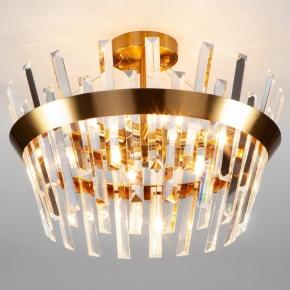 Потолочная люстра Eurosvet Steccato 10111/5 золотая бронза / прозрачный хрусталь Strotskis