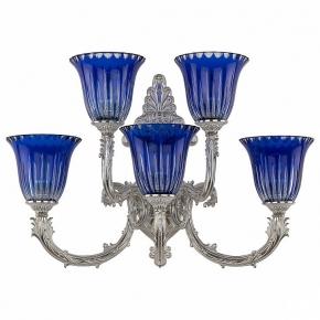 Бра Bohemia Ivele 7109B15/3+2/210 NW P2 U Clear-Blue/H-1K