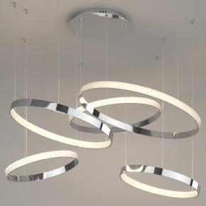 Подвесной светодиодный светильник Eurosvet Smart Posh 90275/5 хром
