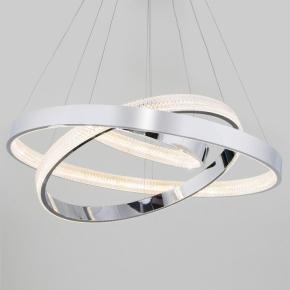 Подвесной светодиодный светильник Eurosvet Smart Posh 90276/3 хром