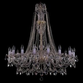 Подвесная люстра Bohemia Ivele Crystal 1411 1411/16/400/XL-115/G
