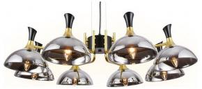 Подвесной светильник Ambrella Traditional 5 TR9084/8 BK/GD/SM черный/золото/дымчатый E27/8 max 40W D920*750
