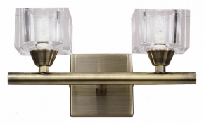 Бра Mantra Cuadrax Antique Brass Optical Glass 1103