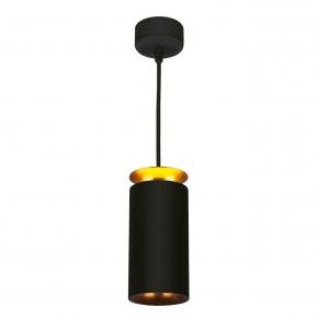 Подвесной светодиодный светильник Elektrostandard DLS021 9+4W 4200К черный матовый/золото 4690389144295