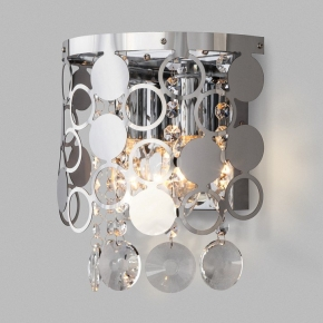 Настенный светильник Eurosvet Lianna 10114/2 хром/прозрачный хрусталь Strotskis