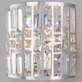 Настенный светильник Eurosvet Lory 10116/2 хром/прозрачный хрусталь Strotskis