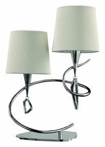 Настольная лампа Mantra Mara Chrome White Shade 1651