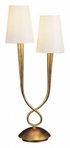 Настольная лампа Mantra Paola Gold Painting 3546