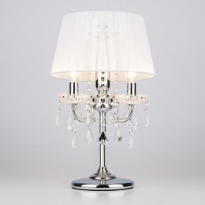 Интерьерная настольная лампа 2045 2045/3T хром/белый настольная лампа