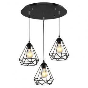 Подвесной светильник  MD.1706-3-P BK