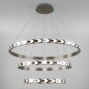 Подвесной светодиодный светильник Eurosvet Chain 90163/3 сатин-никель