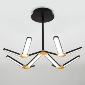 Потолочный светодиодный светильник Eurosvet Kyoto 90147/4 черный/золото