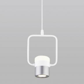 Подвесной светодиодный светильник Elektrostandard 50165/1 LED белый/серебро 4690389141218