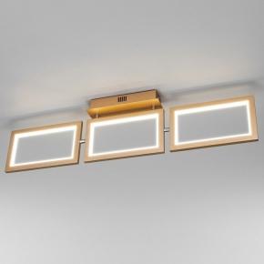 Потолочный светодиодный светильник Eurosvet Maya 90223/3 матовое золото