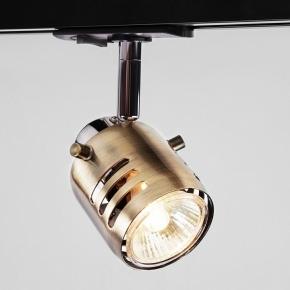 Трековый светильник Eurosvet Leonardo 20076/1 хром/античная бронза