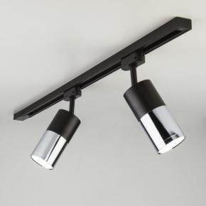 Трековый светильник  Avantag Черный матовый/хром 6W 4200K (LTB27)
