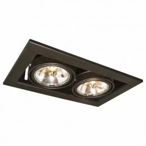 Точечный встраиваемый светильник Arte Lamp Cardani A5930PL-2BK