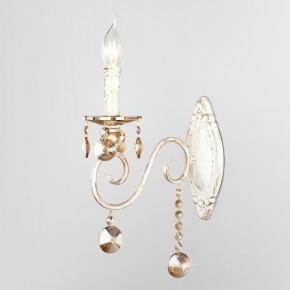 Бра Eurosvet Ravenna 10104/1 белый с золотом/тонированный хрусталь Strotskis