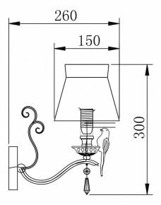 Бра Maytoni Bird ARM013-01-W
