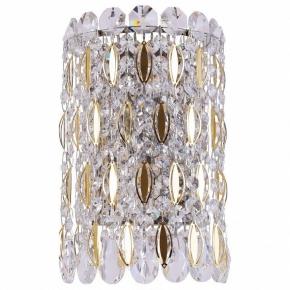 Настенный светильник Crystal Lux Lirica AP2 Chrome/Gold-Transparent