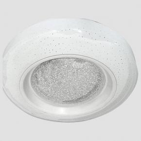Потолочный светодиодный светильник Ambrella light Orbital Crystal Sand FS1233 WH/SD 48W D390